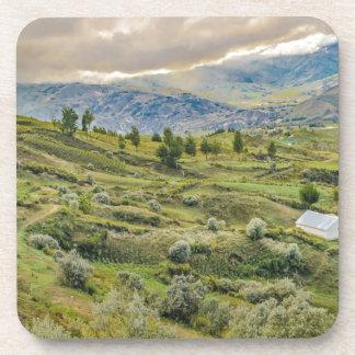 Andean Rural Scene Quilotoa, Ecuador Coaster