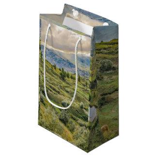 Andean Rural Scene Quilotoa, Ecuador Small Gift Bag