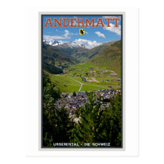Andermatt, Switzerland Postcard