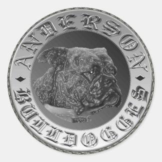 Anderson Bulldogges Sticker/Decal Classic Round Sticker