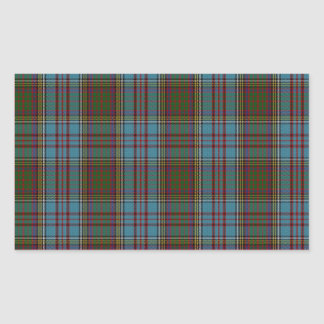 Anderson Clan Family Tartan Rectangular Sticker