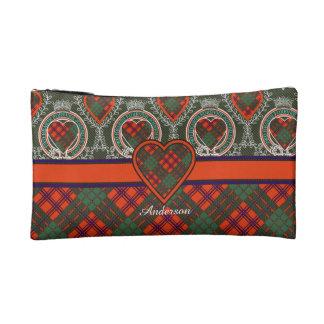 Anderson clan Plaid Scottish tartan Cosmetic Bags