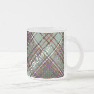 Anderson clan Plaid Scottish tartan Frosted Glass Mug