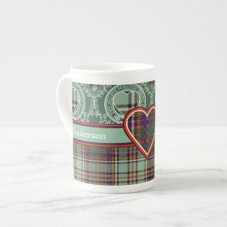 Anderson clan Plaid Scottish tartan Bone China Mug