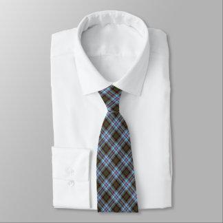 Anderson Clan Tartan Light Blue Plaid Tie