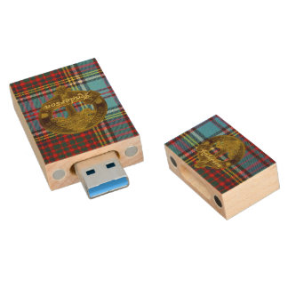 Anderson Clan Tartan & Motif Flashdrive Wood USB Flash Drive