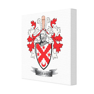 Anderson Family Crest Coat of Arms Canvas Print