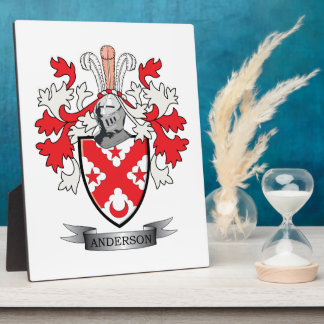 Anderson Family Crest Coat of Arms Display Plaque