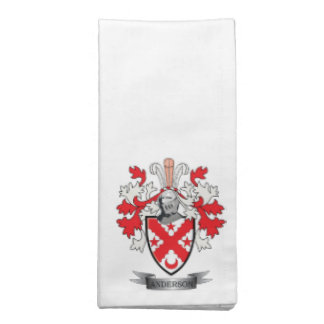 Anderson Family Crest Coat of Arms Napkin