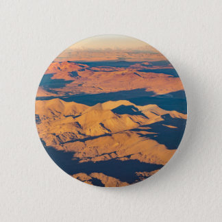 Andes Mountains Aerial Landscape Scene 6 Cm Round Badge