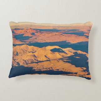 Andes Mountains Aerial Landscape Scene Decorative Cushion