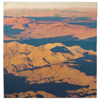 Andes Mountains Aerial Landscape Scene Napkin