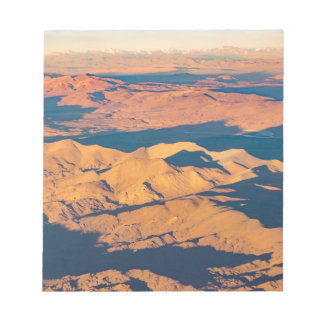 Andes Mountains Aerial Landscape Scene Notepad