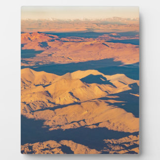 Andes Mountains Aerial Landscape Scene Plaque