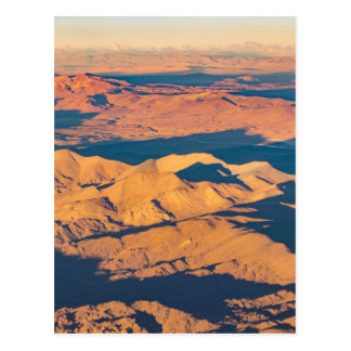 Andes Mountains Aerial Landscape Scene Postcard