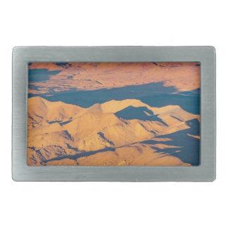 Andes Mountains Aerial Landscape Scene Rectangular Belt Buckles