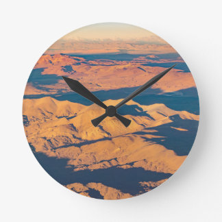 Andes Mountains Aerial Landscape Scene Round Clock