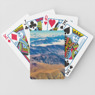 Andes Mountains Aerial View, Chile Bicycle Playing Cards
