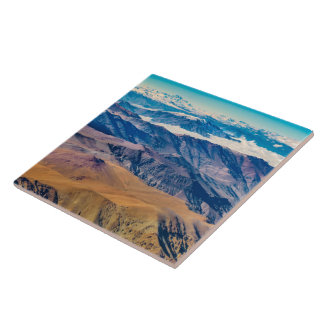 Andes Mountains Aerial View, Chile Ceramic Tile