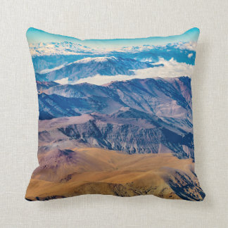 Andes Mountains Aerial View, Chile Cushion