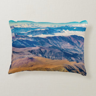 Andes Mountains Aerial View, Chile Decorative Cushion