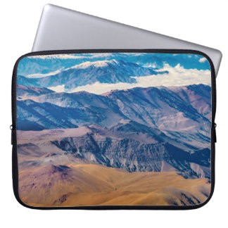 Andes Mountains Aerial View, Chile Laptop Sleeve
