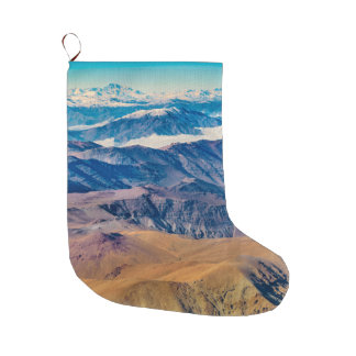 Andes Mountains Aerial View, Chile Large Christmas Stocking