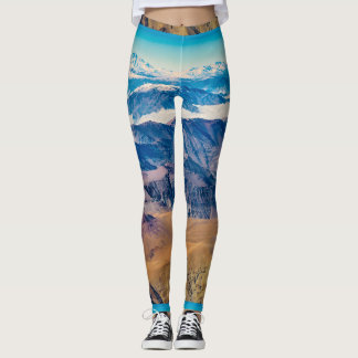 Andes Mountains Aerial View, Chile Leggings