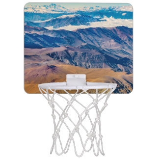Andes Mountains Aerial View, Chile Mini Basketball Hoop