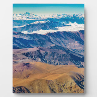 Andes Mountains Aerial View, Chile Plaque