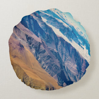 Andes Mountains Aerial View, Chile Round Cushion