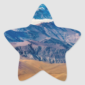 Andes Mountains Aerial View, Chile Star Sticker