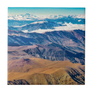 Andes Mountains Aerial View, Chile Tile