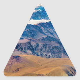 Andes Mountains Aerial View, Chile Triangle Sticker