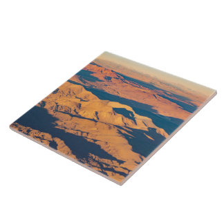 Andes Mountains Desert Aerial Landscape Scene Ceramic Tile