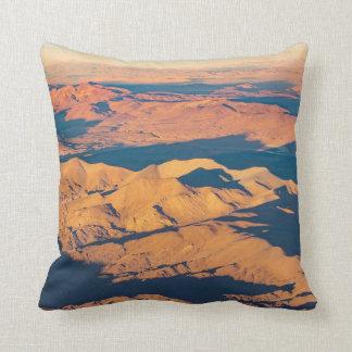 Andes Mountains Desert Aerial Landscape Scene Cushion