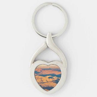 Andes Mountains Desert Aerial Landscape Scene Key Ring