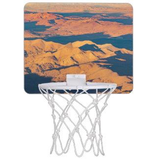 Andes Mountains Desert Aerial Landscape Scene Mini Basketball Hoop