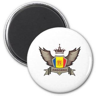 Andorra 6 Cm Round Magnet