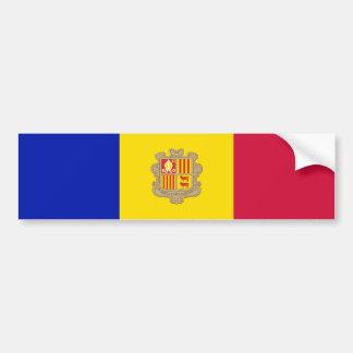 Andorra/Andorran Flag Bumper Sticker