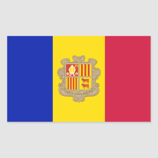 Andorra/Andorran Flag Rectangular Sticker