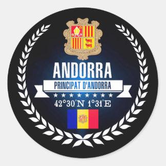 Andorra Classic Round Sticker