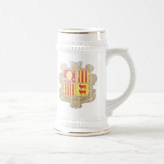 Andorra Coat Of Arms Beer Stein