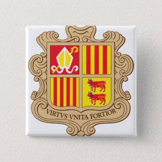 Andorra Coat of Arms detail 15 Cm Square Badge