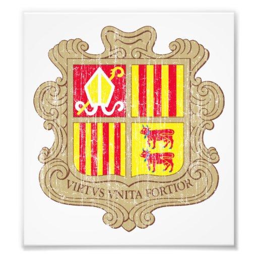 Andorra Coat Of Arms Photo Art