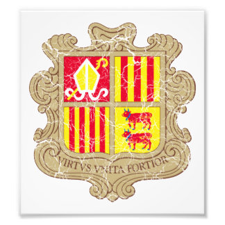 Andorra Coat Of Arms Photographic Print