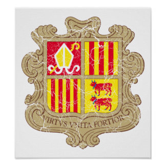 Andorra Coat Of Arms Poster