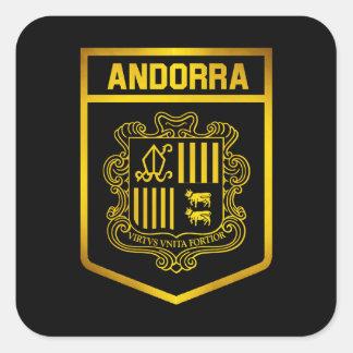 Andorra Emblem Square Sticker