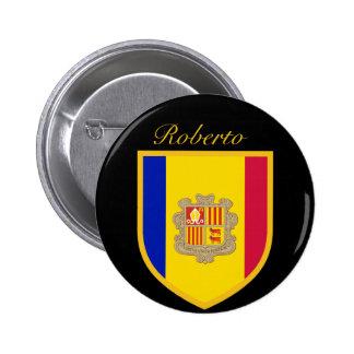 Andorra Flag 6 Cm Round Badge