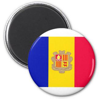 Andorra Flag 6 Cm Round Magnet